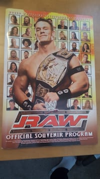 WWE WWF Autographed OFFICIAL wrestling program 2005 RAW SMACKDOWN wrestling event program by Christian/Shelton Benjamin Bradford West Gwillimbury