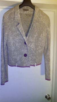 New Cathrine Andre knit Cardigan/Blazer made in Fr Toronto