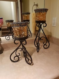 Wrought iron candle holders. Qty of 2  Surrey, V4P 3M7