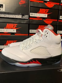 Air Jordan Retro 5 Fire Red 9.5