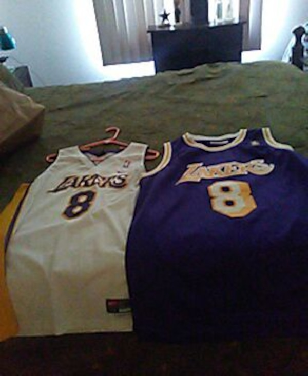 outlet store 86bff eb568 Used purple and yellow lakers kobe bryant 8 jersey shir for ...