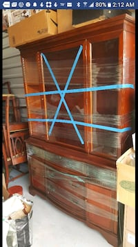 Mahogany china cabinet with deep drawers for stor  Missouri City, 77459