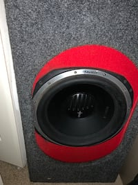 black and red subwoofer speaker Seat Pleasant, 20743