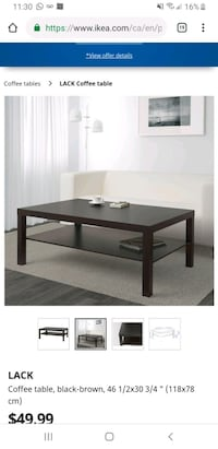 IKEA coffee table  Brampton, L7A 0S5