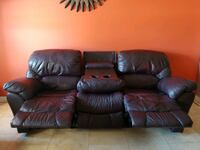 Leather Reclining Sofa / Couch Phoenix