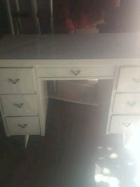 white wooden single pedestal desk Fresno, 93722