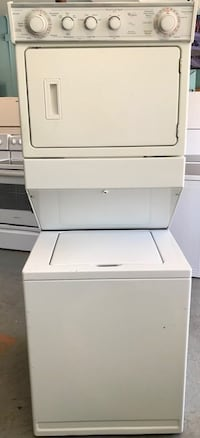 """Whirlpool 27"""" stackable washer and dryer"""