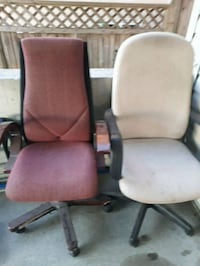 two gray and red rolling armchairs Surrey, V3V 5A8