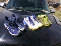 Three pair almost new sport shoes