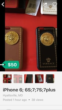 two brown and black Versace iPhone cases Washington, 20017