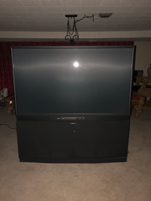 Black sony rear projection television