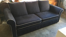 Blue cotton with matching Love Seat