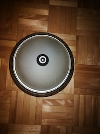 round white and black dome light Westmount