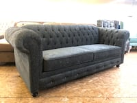 BRAND NEW CANADIAN MADE GREY CHARCOAL TUFTED SOFA+TUFTED CHAISE Toronto