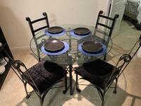 Black dining room set  Alexandria, 22304