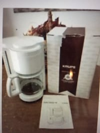 Krups White Electric 10 Cup Coffee Maker (New) Barnstable, 02648