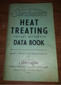 Sunbeam Heat Treating Pocket Reference Data Book 1965 Equipment Reference techno Baton Rouge