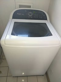 white Whirlpool top-load clothes washer and dryer  Albuquerque, 87102