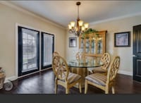 Selling glass dining table without chairs.  Alexandria, 22315