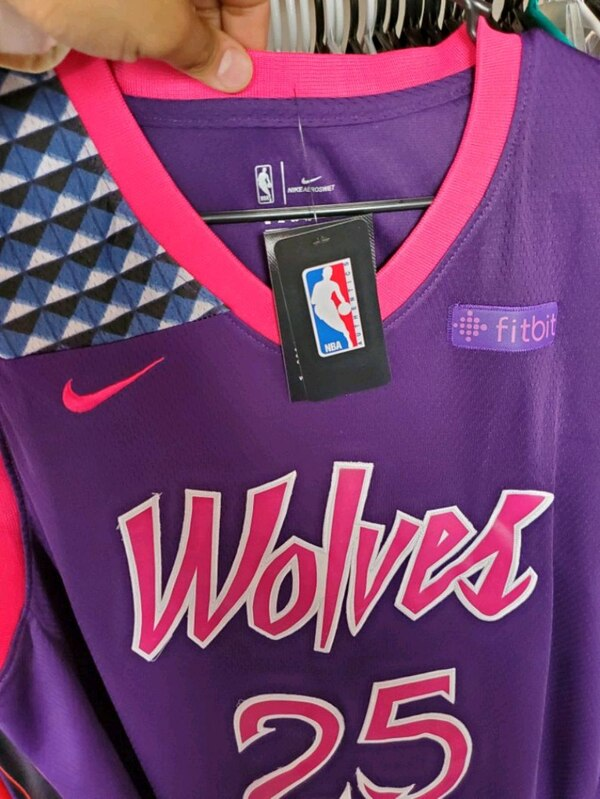 info for 06b57 1a5a8 Pink/purple Rose Minnesota Jersey (PRICE IS FIRM)