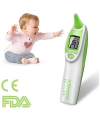 LEYU DT-886 Ear Thermometer for Fever, Infrared Digital Thermometer For Baby, Kids, Toddlers and Adults Manteca, 95148