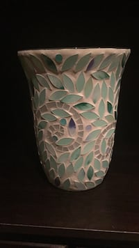 white and teal floral ceramic candle oil diffuser Brampton, L6W 1C1