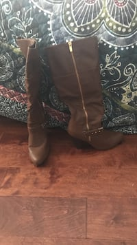 Tall Brown Heel Boots