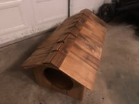 Hand made Dog house (perfect for a dachshund)