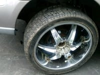 chrome 5-spoke car wheel with tire Falls Church, 22041