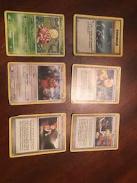 nine assorted Pokemon trading cards