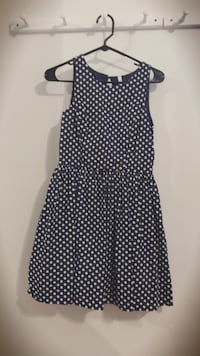 women's black and white polka dot sleeveless dress 坎卡基, 60901