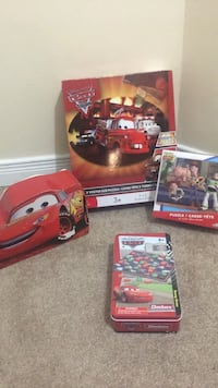 Cars toy story puzzle and game lot  Brampton, L7A 2T1