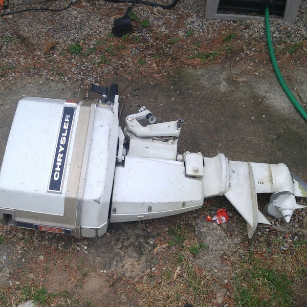 Used white Chrysler outboard motor for sale in Lodi