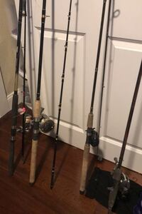 Fishing rods, bait casters and spinning reel