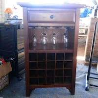 brown wooden framed glass cabinet Yuma, 85364