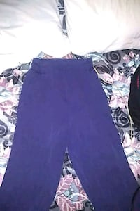 H&M navy soft full length pants