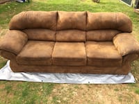 Brown suede 3-seat sofa Gallipolis, 45631