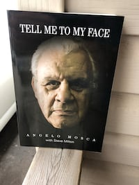 """Tiger Cats Angelo Mosca """"Tell me to my face"""" book. $15."""