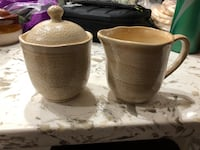 two brown ceramic vases with lids Herndon, 20170