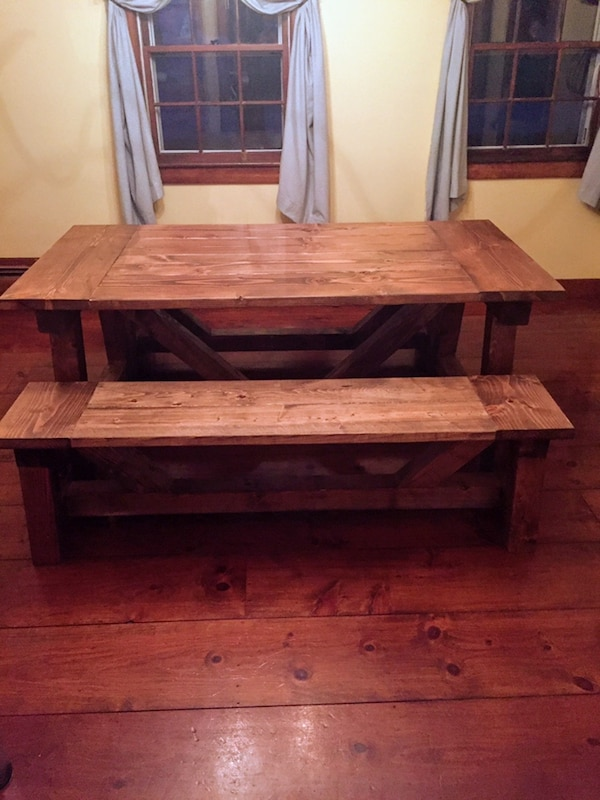 Admirable 6Ft Custom Built Farm Table Benches Gmtry Best Dining Table And Chair Ideas Images Gmtryco