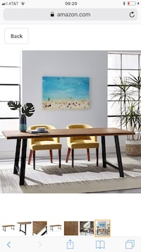 Farmhouse with a mid-century twist dining table Citrus Heights, 95621