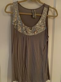 Grey tank top with sequinned neckline Oakville, L6L 4X4