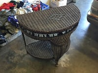Brown wicker table