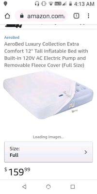 """Aerobed Luxury Collection Extra Comfort 12"""" Tall Inflatable Bed."""
