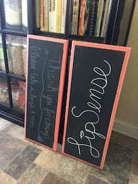 Real wood chalk board signs  Weatherford, 73096