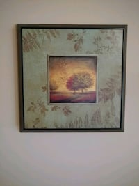 brown wooden framed painting of flowers Plainfield, 60586