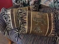 2 goose down tapestry pillows