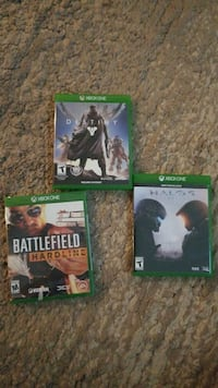 three Xbox One CD game cases St. George, 84770