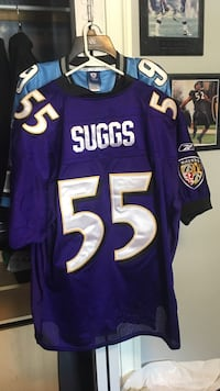 Terrell suggs purple baltimore ravens jersey size: 52 (xl) Halethorpe, 21227