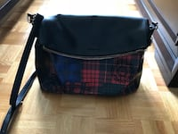 black and blue leather crossbody bag Laval